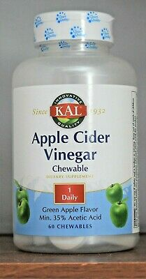Kal Apple Cider Vinegar Green Apple 60 Chewables Kal Apple Cider Vinegar