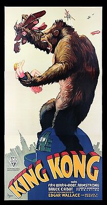 KING KONG * CineMasterpieces S2 MOVIE POSTER 3 SHEET RECREATION LTD EDITION 1997