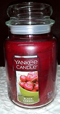 YANKEE CANDLE BLACK CHERRY LARGE JAR CANDLE 22 OZ FREE SHIPPING