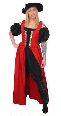 Womens Pirate Wench Costume (RENAISSANCE FAIR MEDIEVAL PIRATE WENCH COSTUME SKIRT BODICE IRISH OVERDRESS)