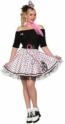 Adult Flirtin' with the 50's Poodle Skirt Costume Standard