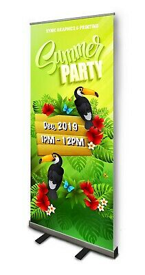 New Retractable Pull Up Banner Stand 33 With Printing- Price Reduced