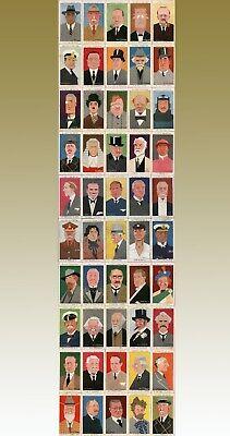 ORIGINAL PLAYER'S CIGARETTE CARDS-STRAIGHT LINE CARICATURES-SET 50