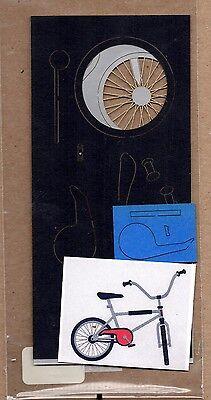 Deluxe Cuts Bicycle Laser Die Cuts Silver Blue Scrapbook Bike Kids New Cardstock Laser Die Cuts