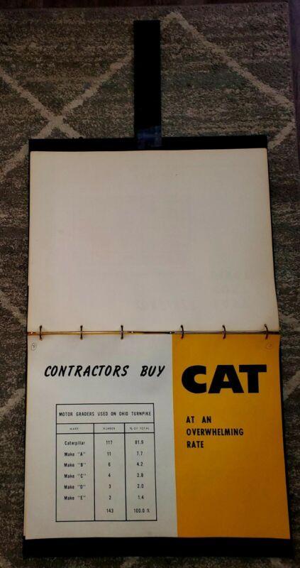 1950s CATERPILLAR  Marketing Advertising Sales Presentation Book.  HUGE RARE!