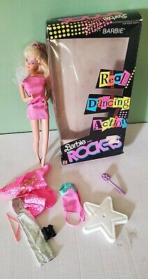 1986 Barbie and the Rockers Real Dancing Action Barbie Doll 3055 with box extras