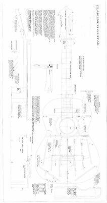 Conde Flamenco  GUITAR PLANS  to make guitar - Full scale  actual size  - Flamenco Guitar Scales