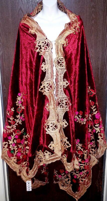 Valvet Dupata indian Pakistani wedding bridal dupata phulkari wrap shawl stole