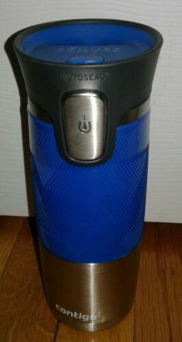 16oz autoseal travel coffee mug stainless blue