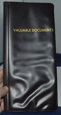 Valuable Document Plastic Holder Holds 5 Documents That Are Folded