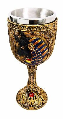 Ancient Egyptian Anubis God of Mummification & Afterlife Wine Goblet Chalice