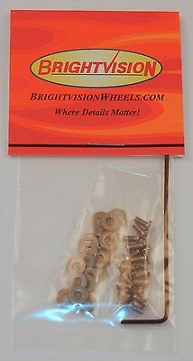 20 SILVER 2-56 Button-Head Screw-In Rivets, Washers & Wrench For Customs Restore