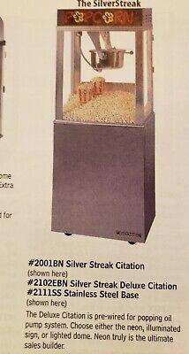 Citation Popcorn Machine 14oz. With Matching Stainless Steel Base.