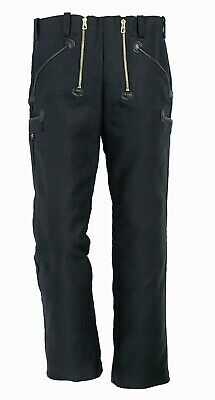 Fhb christian german leather guild trousers blacksmith craftsman work 42 black