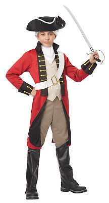 England British Redcoat Soldier Military Navy Historical Child Costume