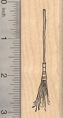 Halloween Broomstick Craft (Broom Rubber Stamp, Halloween Witch Broomstick H22713)