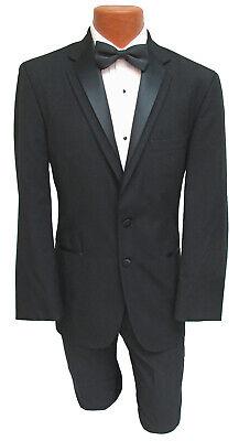 Halloween Costumes With Black (Men's Black Contour Tuxedo Jacket with Satin Lapels Halloween Costume Bond Spy)