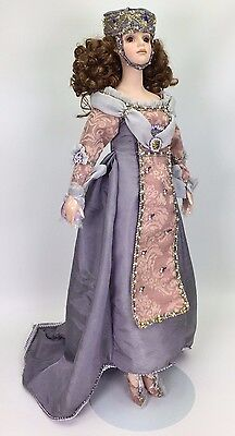 "SEYMOUR MANN JULIET PORCELAIN DOLL 25"" COA USED"