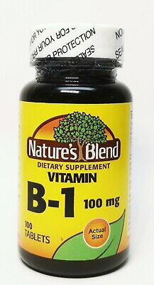Nature's Blend Vitamin B-1 100mg 100 Tablets EXP:04/2024
