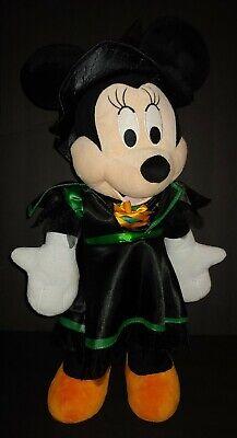 "Disney Halloween Minnie Mouse Witch Plush 23"" Green Standing Porch Greeter Gemmy"