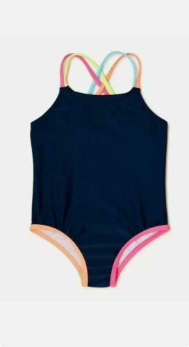 NWT Baby Girl SZ 12 MOS 1-PC Swimsuit Wonder Nation BLUE