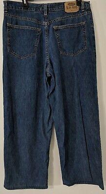 Old Navy mens 5 pocket the best in denim jeans pants dark blue medium wash