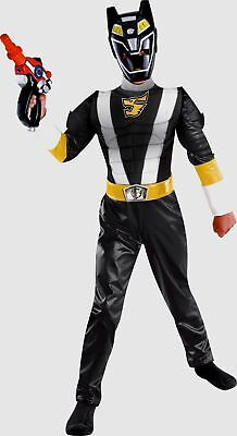 Power Rangers Size 4-6 Small RPM Black Wolf Ranger Muscle Costume New - Power Rangers Rpm Costume