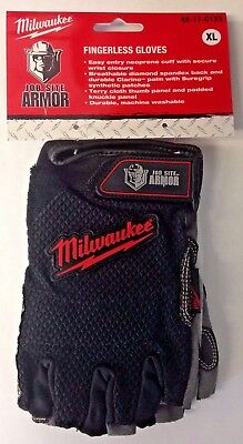 Milwaukee 49-17-0123 Gloves Fingerless Job Site Armor Xl