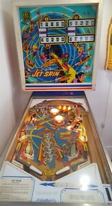 Original Vintage 1977 Jet Spin Gottlieb Pinball Machine Collectible Arcade Game