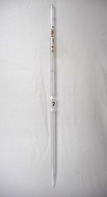 Pyrex Glass Class A 2ml 0.006 Bulb Reusable Volumetric Pipette Pipet 7100-2 B
