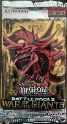 Giants Booster Pack - Yu-Gi-Oh BATTLE PACK 2 WAR OF THE GIANTS Booster Pack! Rare! BP02