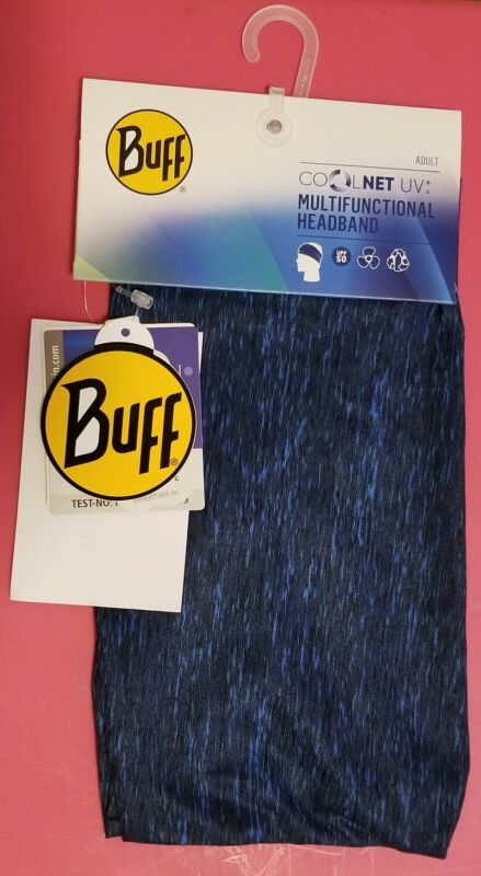 BUFF COOLNET UV+ MultiFunctional Headband / NAVY Heather / Brand NEW + Tags 2021