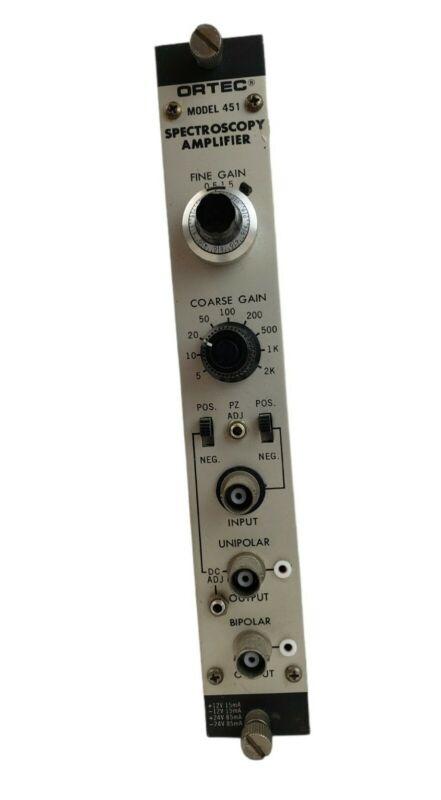 Ortec Model 451 Industrial Spectroscopy Amplifier Module UNTESTED