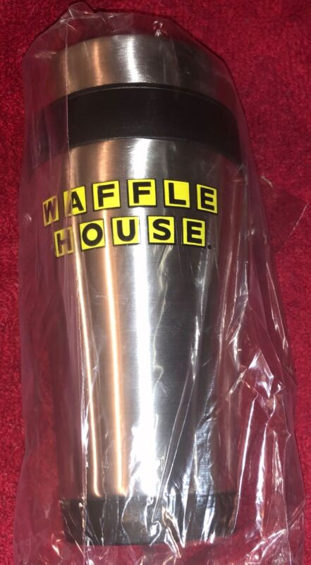 JUST IN BRAND SPANKING NEW WAFFLE HOUSE COFFEE/DRINK TUMBLER