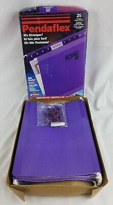 Pendaflex Reinforced Hanging File Folders Letter Violet 25box Pfx415215vio