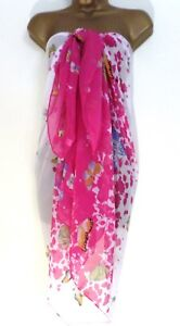 New Large Sarong Beach Wrap Cover Up Pareo. 180x100cm. UK Seller. Fast Delivery.