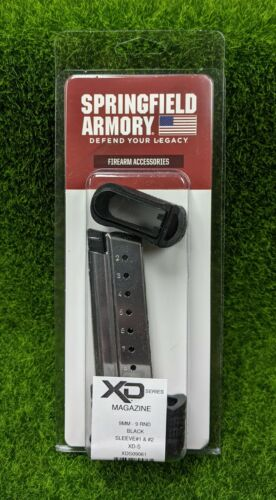 Springfield Armory XD-S 9mm Stainless Steel 9 Rd Magazine w/ Sleeve - XDS09061