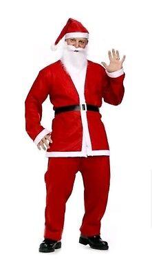 Men's Adult Santa Suit Father Christmas Fancy Costume- BUY 1 GET 1 FREE