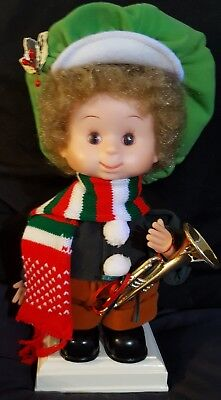 Santa's Best Undercover Kids Vintage Animated Doll A.J. with trumpet