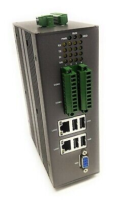 Lanner Lec-2300 Compact Industrial Din Rail Mount Pc Computer 4 Serial 4dido