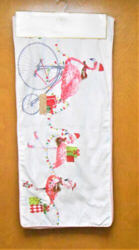 Christmas Embellished with Beads & Sequins Flamingos Table Runner