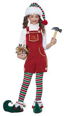 Toymaker Elf Girls Santa's Workshop Helper Child Costume - Girls Elf Costume