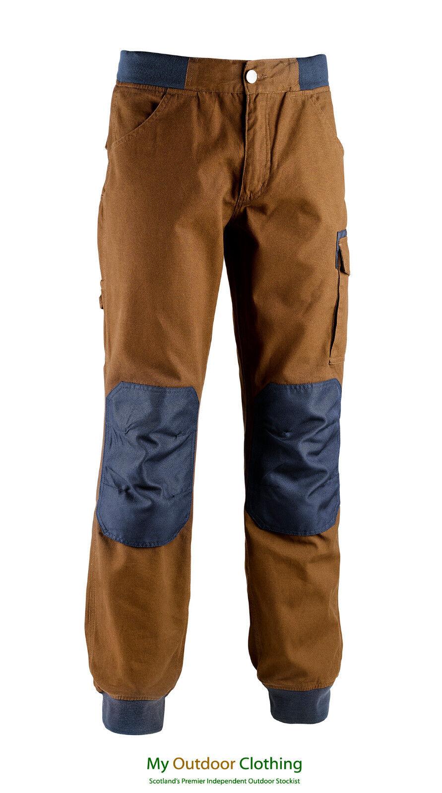 Details about Diadora Utility Workwear Mens Cotton Work Trousers Parkour BrownNavy