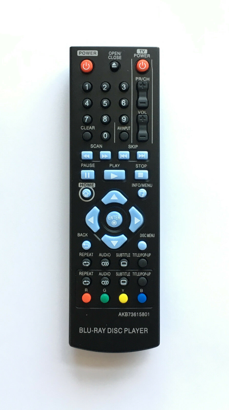 NEW LG Replacement Remote AKB73615801 For LG DVD Blu-ray Pla