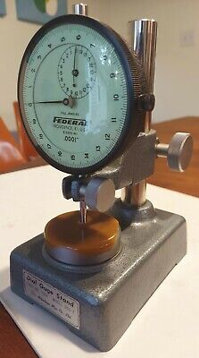 Federal Dial Indicator Model E3bs-r1 312 Face W Mitutoyo Gage Stand 7004 Dgse