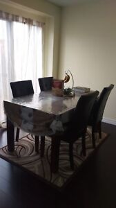 Marble look dining table