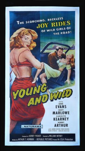 YOUNG AND WILD ✯ CineMasterpieces HUGE MOVIE POSTER 1958 BAD GIRL SEXY VIXEN
