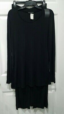 Authentic ICEBERG Black Long Sleeve Top & Skirt Set Sz 40 Made In Italy