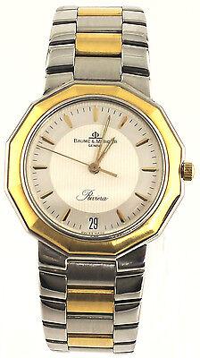Baume Et Mercier Riviera 5131 Swiss Quartz 18k Gold Two Tone Unisex Date Watch