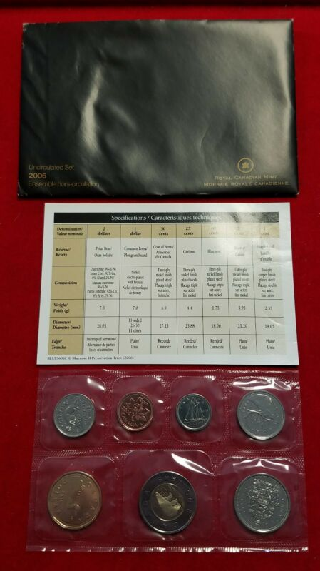 2006 Canada Uncirculated Proof-Like Mint Set w/ original Envelope & COA